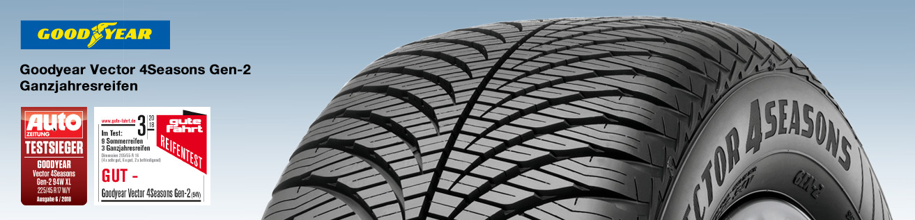 Testsieger Goodyear Vector 4Seasons